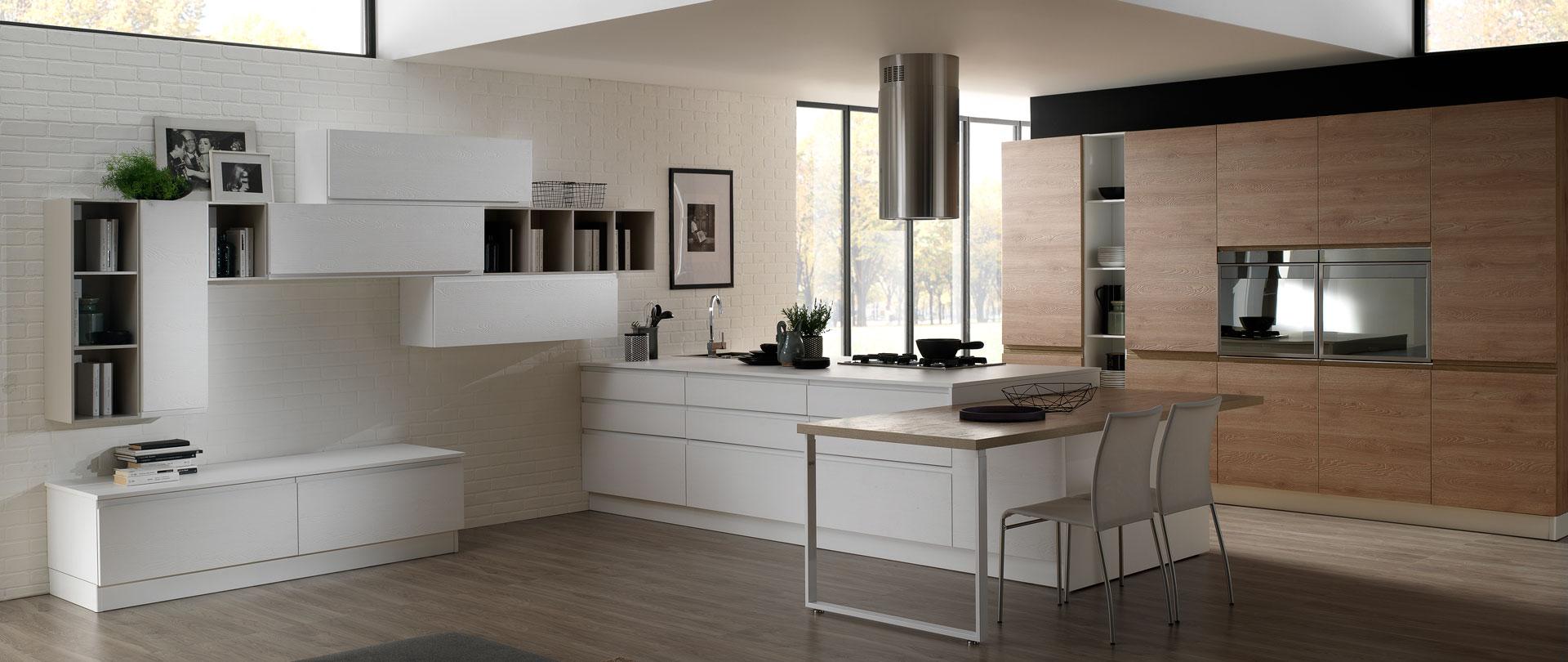 Cucina moderna con maniglia integrata arredook ardea for Casa moderna crotone