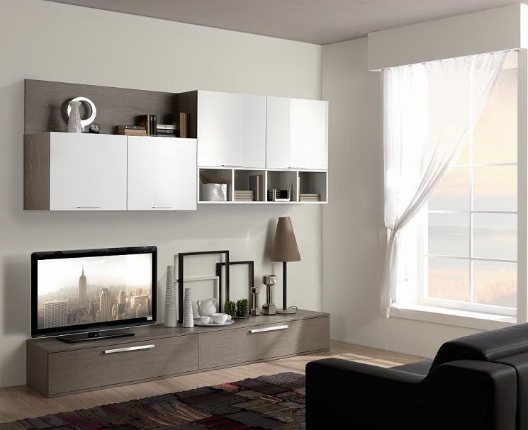 Soggiorno moderno componibile arredo ok for Mobili soggiorno moderni ikea