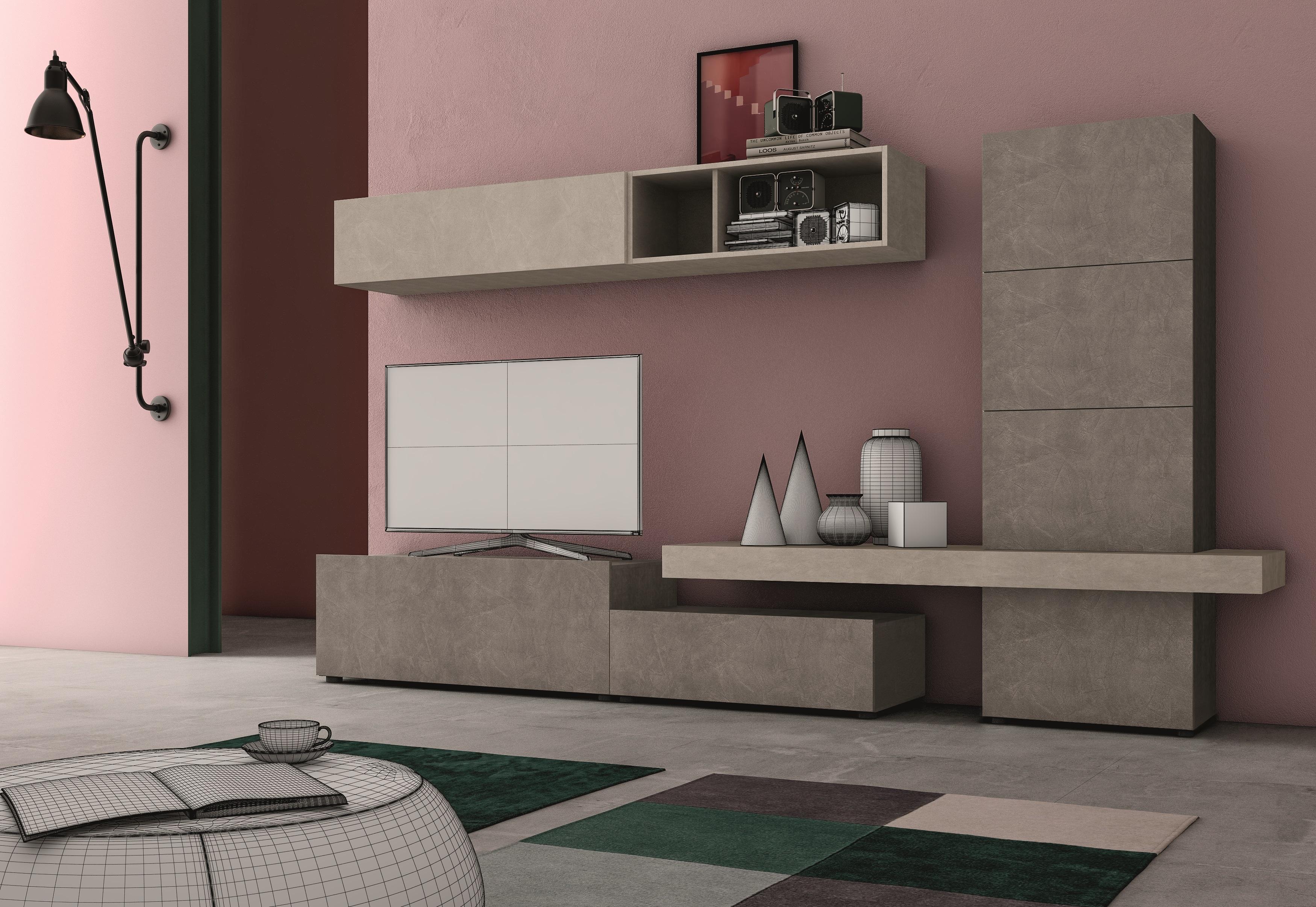 Soggiorno moderno arredamento soggiorni ardea for Composizione soggiorno moderno