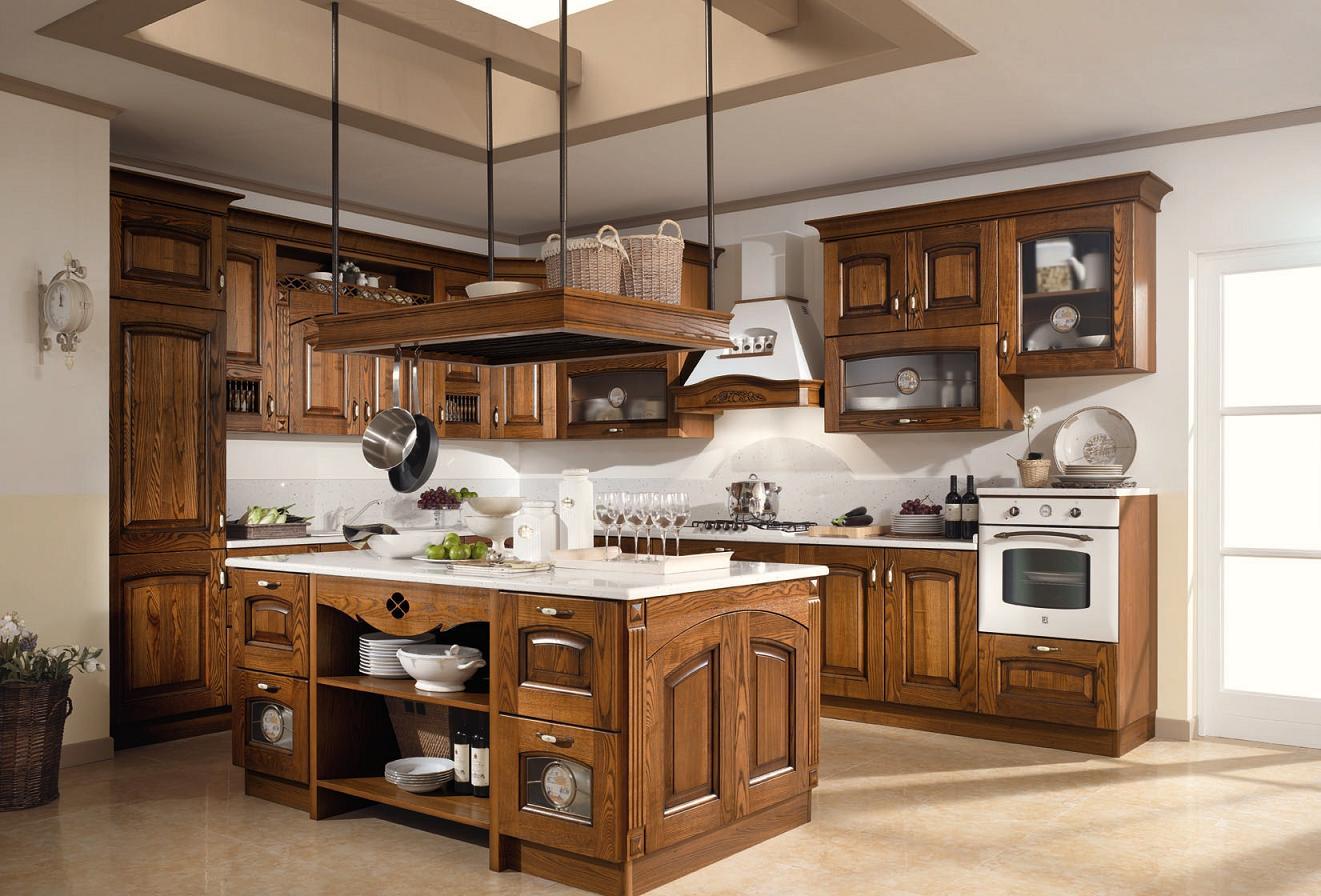 Cucina classica castagno arredook ardea arredamento - Mobilturi cucine classiche ...