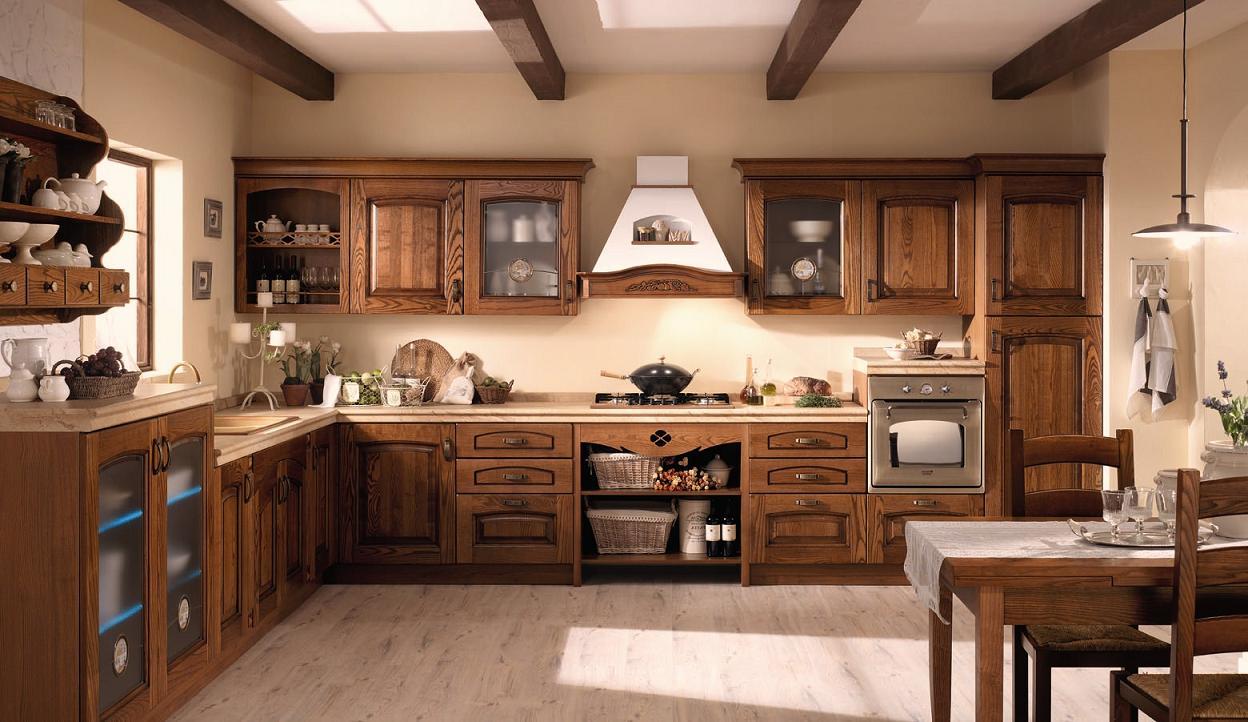 Cucina classica castagno arredo ok for Mobili arredo cucina