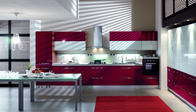 Cucina rosso bordeaux u solo un altra idea di immagine decorativa