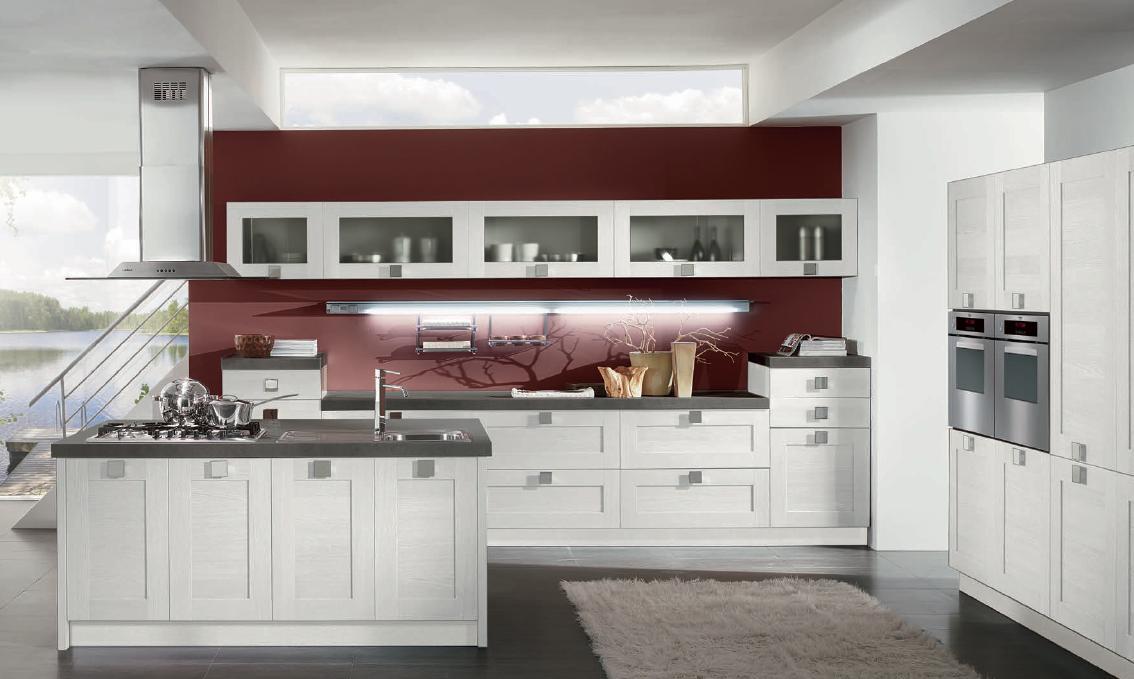 Emejing Cucina Legno Bianca Contemporary - Ideas & Design 2017 ...