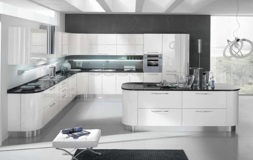 Cucina moderna lucida| arredamento | cucine | ardea ...