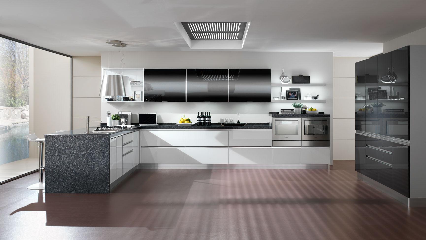 Cucina moderna anta gola arredook ardea arredamento casa cucine camere letti divani - Immagini cucine moderne ...